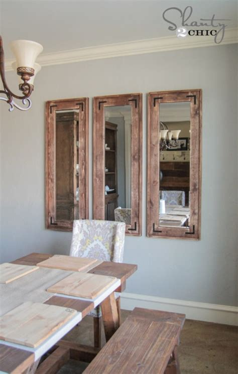 diy rustic full length mirrors shanty  chic