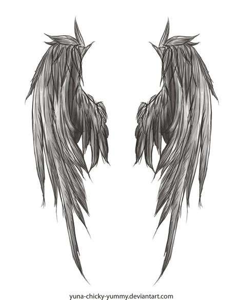 angel wing tattoo on back wing drawing i found in deviantart i ll probably