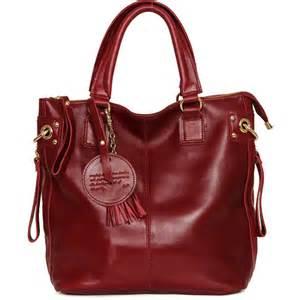 genuine leather handbag shoulder bag tote women