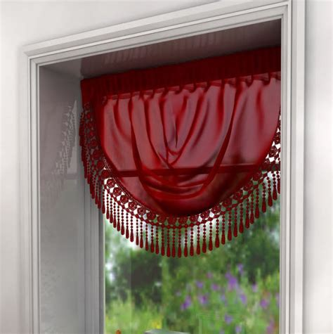 red swag curtains maisie macram 233 voile swags red only 163 4 99