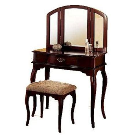 cherry wood vanity bench style cherry finish wood vanity set table