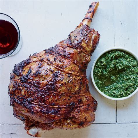 roast leg of lamb roast leg of lamb with hemp seed pesto recipe michael