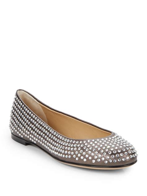 Giuseppe Zanotti Studded Leather Ballet Flats Review giuseppe zanotti studded leather ballet flats in