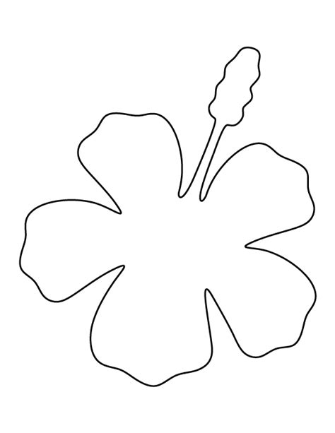 Hibiscus Pattern Use The Printable Outline For Crafts Hawaiian Flower Template
