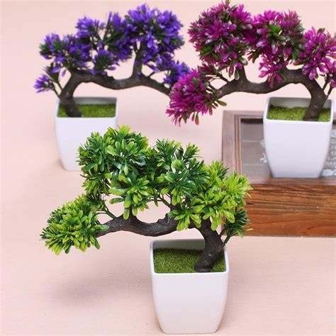 Bonsai Tree Planters by 2018 Hyson Shop Artificial Bonsai Pot Planters Pine Plants