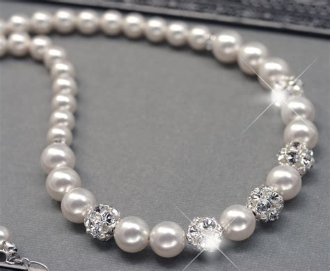 pearls for jewelry wedding pearl necklace pearl and rhinestone necklace