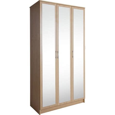 3 Door Wardrobe Argos by Buy Collection Cheval 3 Door Mirrored Wardrobe Oak