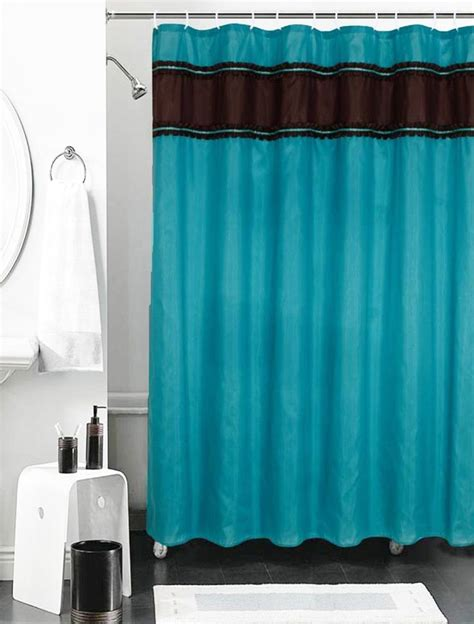 details about faux silk shower curtain with ruffle border