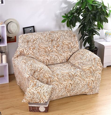 Golden Spandex Sofa Covers Sofa Slipcovers Cheap Wrap Printed Sofa Slipcovers