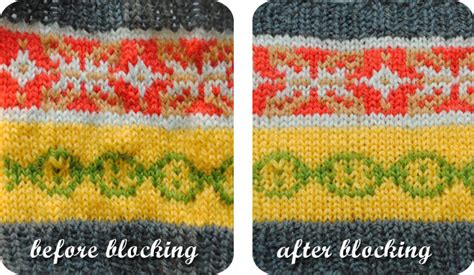 blocking knitting before and after vkc tension puckers even stranded knitting by gum