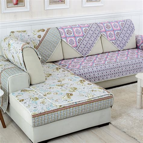 printed sofa slipcovers sunnyrain double face reversible polyester l shaped sofa