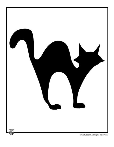 cat silhouette template cat template
