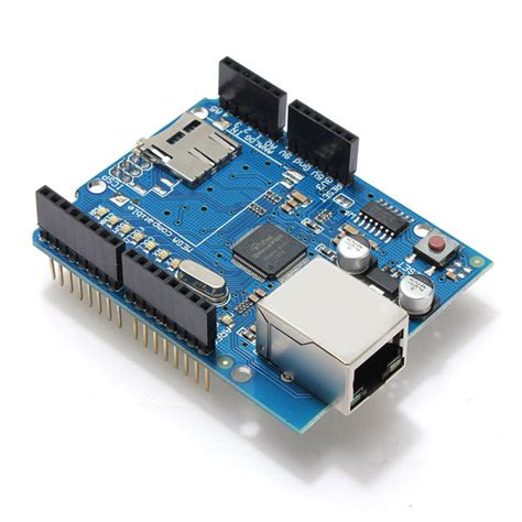 Ethernet Shield W5100 For Network Arduino geekcreit 174 ethernet shield module w5100 micro sd card slot for arduino uno mega us 6 69