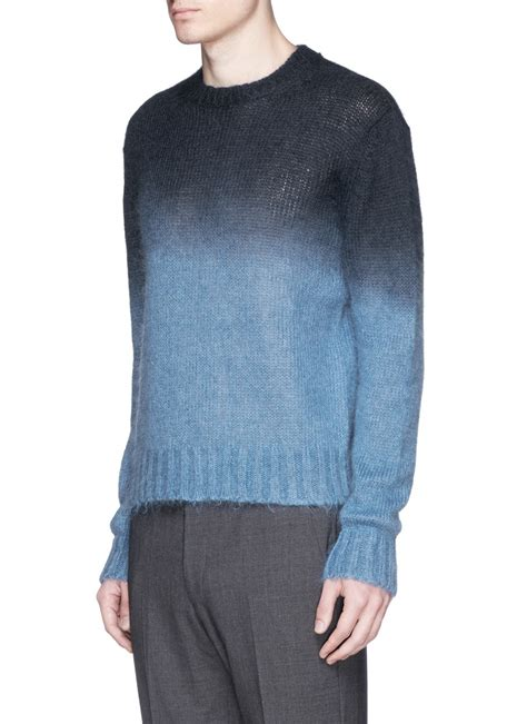 Ombre Mohair Sweater Black marni ombr 233 mohair wool sweater in blue for lyst