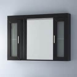 wood mirrored medicine cabinet signaturehardware