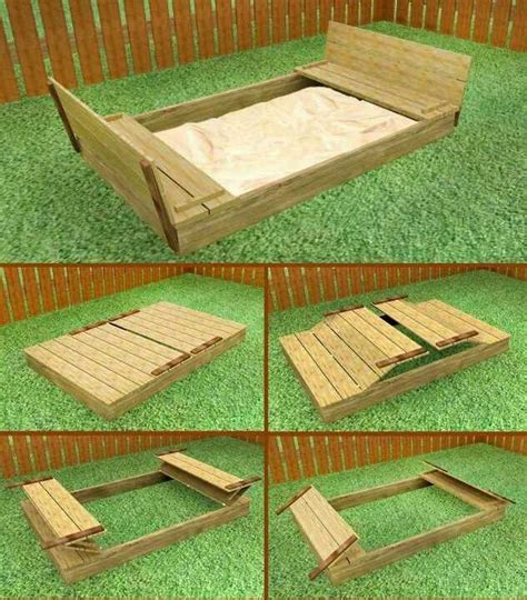 sandbox with bench lid 17 best images about ece diy sandboxes on pinterest