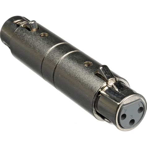 xlr format converter hosa technology gxx145 female xlr to female xlr adapter