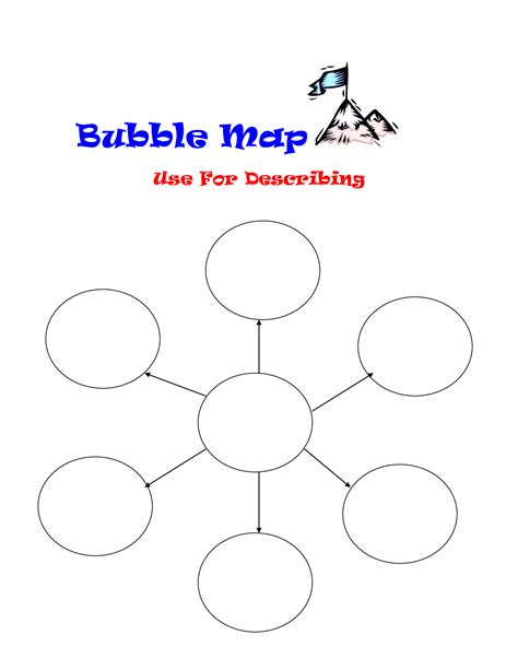 bubble map vocabulary graphic organizers bubble and