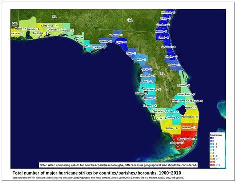hurricane map florida florida hurricanes florida climate