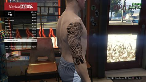 tattoo gta v online image tattoo gtav online male right arm snake shaded jpg
