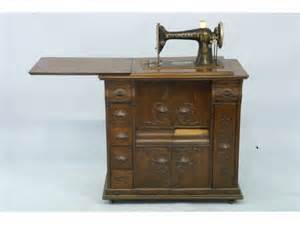 1249 antique singer sewing machine and cabinet lot 1249