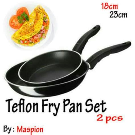 Panci Penggorengan Maspion maspion teflon fry pan set 2in1 18cm dan 23cm frypan