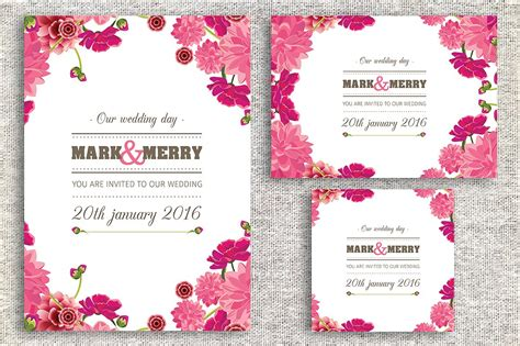 Wedding Invitation Card Invitation Templates Creative Market Card Invitation Templates