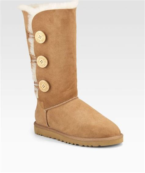 ugg bailey button triplet suede sheepskin boots in