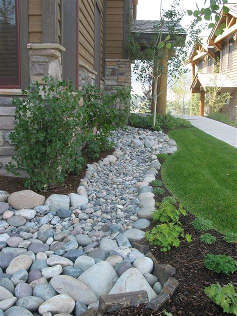 lovely dry river stream bed picture ideas front yard