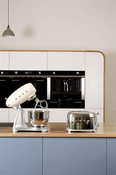 Smeg cream kitchen mixer and chrome toaster.   Smeg Small