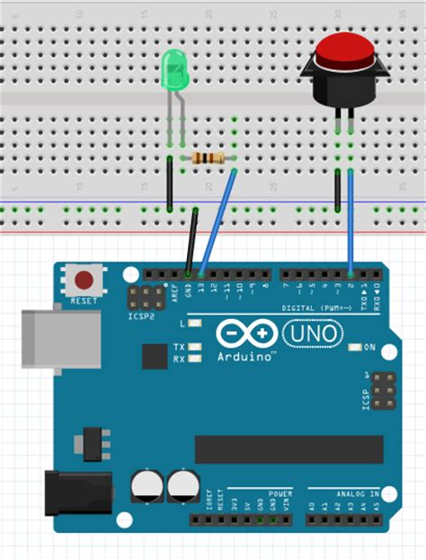 arduino interrupt pull up resistor button arduino basics arduino project hub