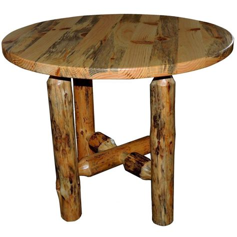 traditional log dining table amish crafted furniture