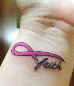 breast cancer ribbon tattoos