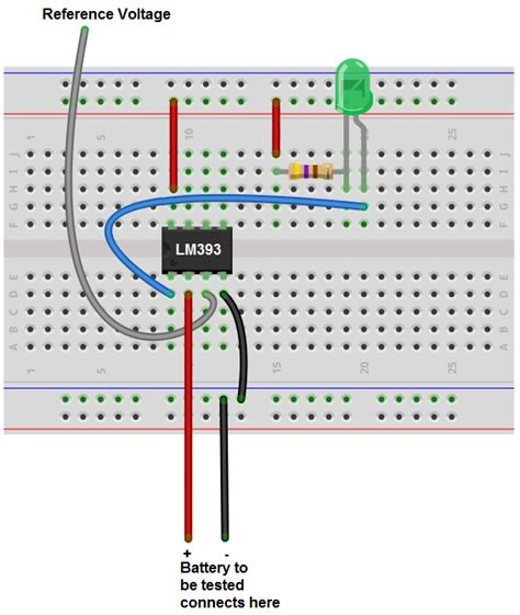 circuit test breadboard how to build a battery tester