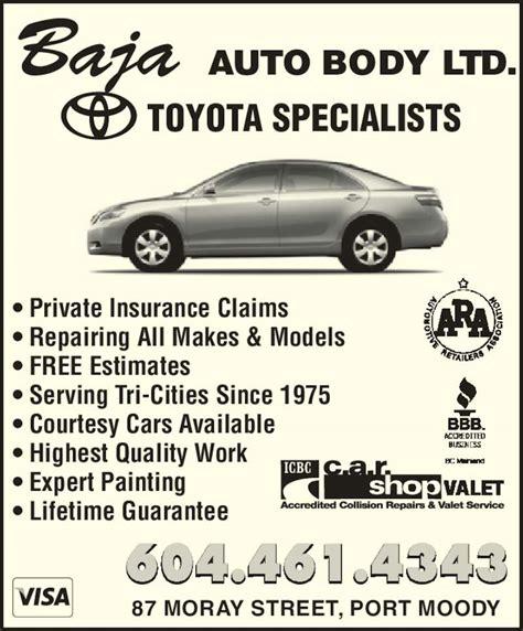 Car Insurance Port Coquitlam by Baja Auto Ltd 87 Moray St Port Moody Bc