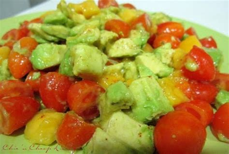 avocado tomato mango salad by chic n cheap living little luxury list