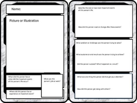 free trading card templates give summaries and writing a different look by