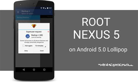 android 5 0 lollipop root nexus 5 on android 5 0 lollipop the android soul