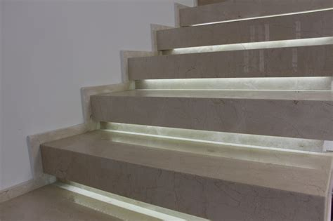 marble stairs crema marfil marble staircase architecture with led light