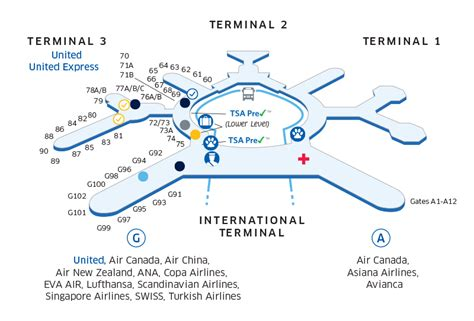 United Airlines Baggage Information by Sfo Airport Map United Airlines