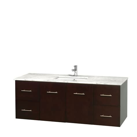 60 inch bathroom vanity single sink white wyndham collection wcvw00960sescmunsmxx centra 60 inch