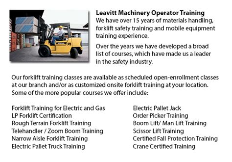 calgary forklift operator certification