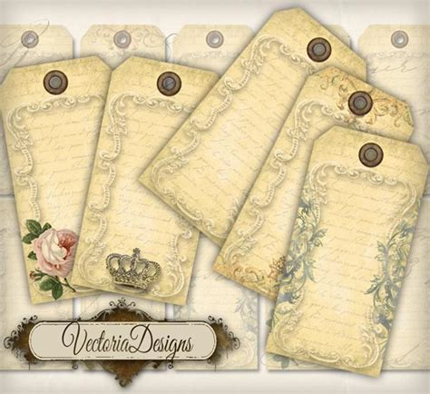 printable hang tags vintage blank hang tags printable gift vectoriadesigns