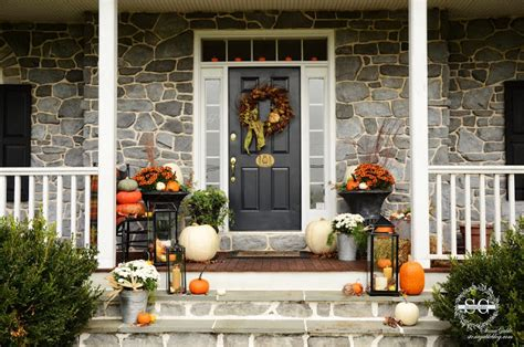 bloggers porches  fall outdoor fall decorating
