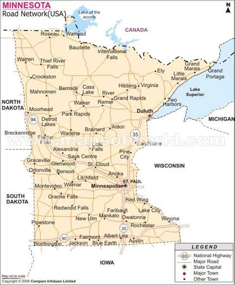 road map minnesota usa county map of minnesota