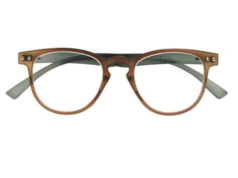 kent brown grey frame reading glasses
