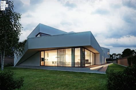 Semi Detached House Polish Residence E Architect