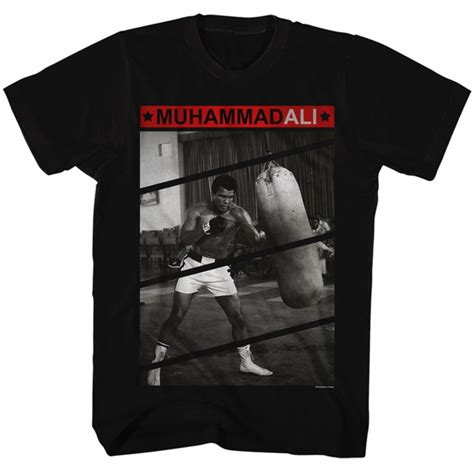 Muhammad Ali Black Shirt muhammad ali shirt punching the bag black t shirt