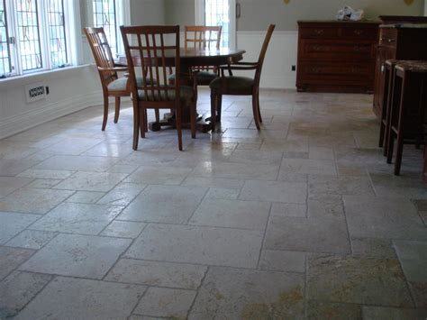 Marble Kitchen Floor Tumbled Marble Floor In Kitchen New Jersey Custom Tile