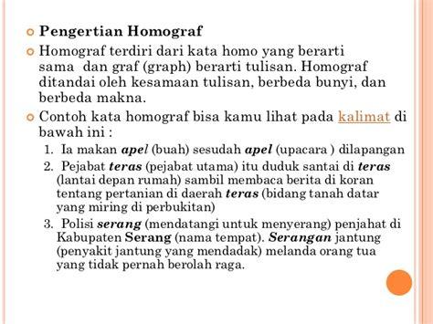 indonesia homonim homograf homofon